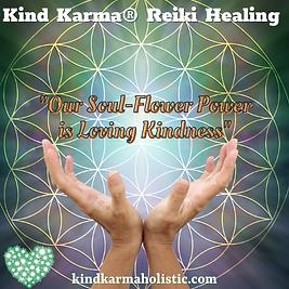 Kind Karma Reiki with Flower of Life.