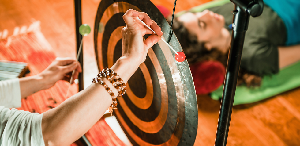 sound healing treatment with the gong