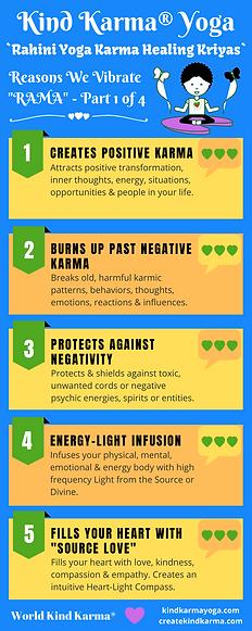 Infographic of Kind Karma Yoga Benefits