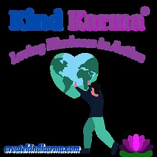 Kind Karma Worldwide Heart Shape Logo