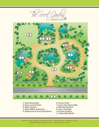 Site Map of Secret Gardens Miami