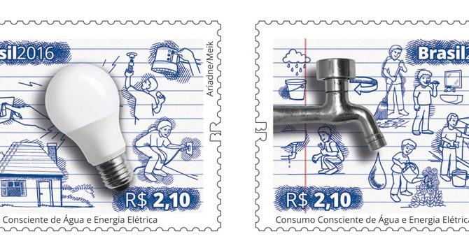 Correios lança novos selos de Ariadne Decker