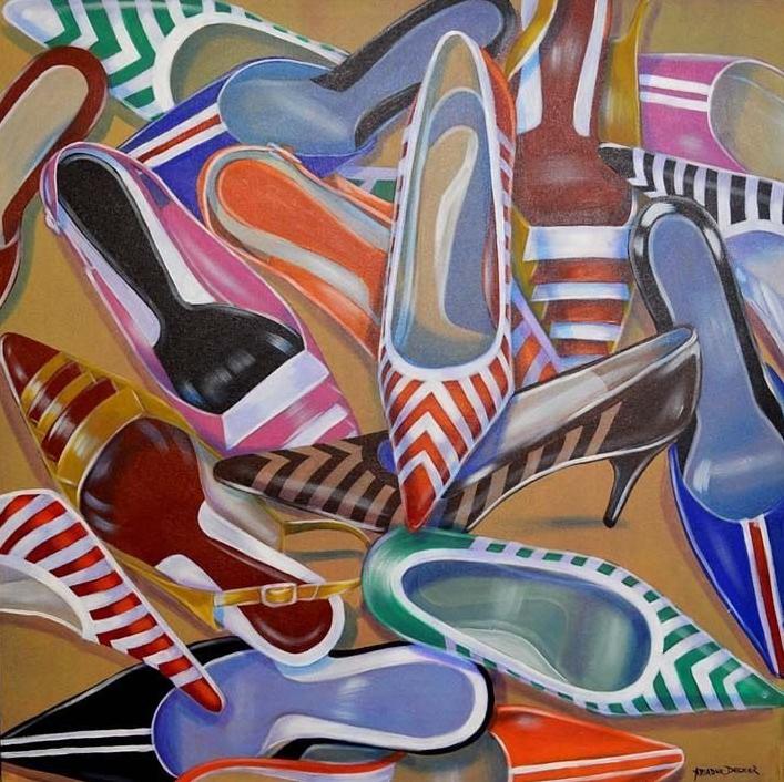 Sapatos Listrados