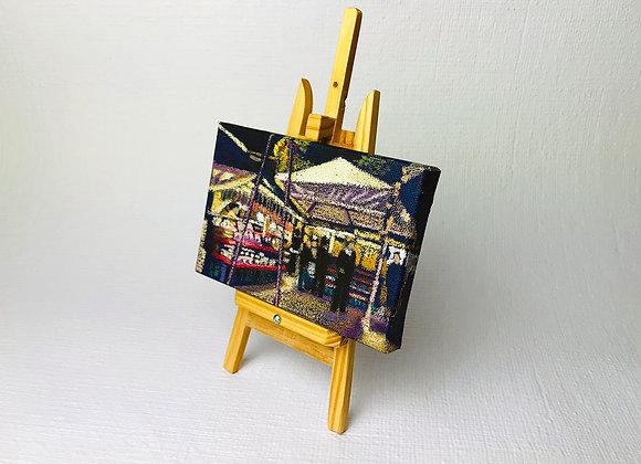 "Mini Tela Original ""Noturno na Praça"""
