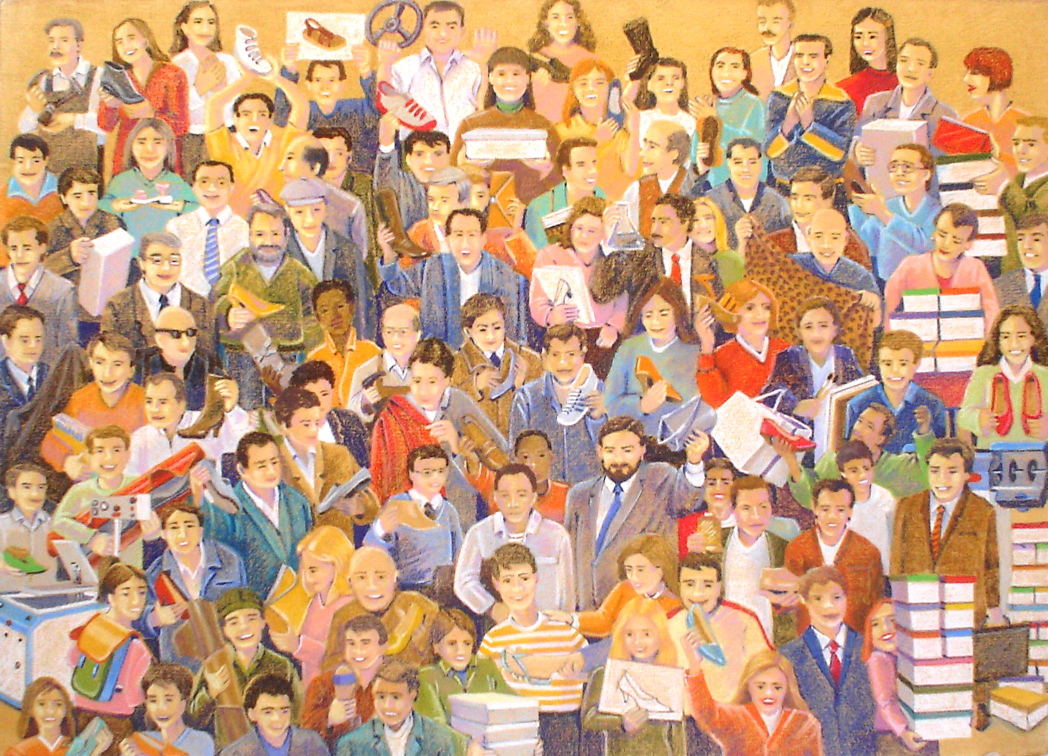 Multidão Calçadista