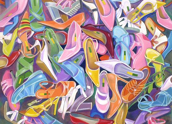 """Reprodução """"Sapatos Coloridos"""""""