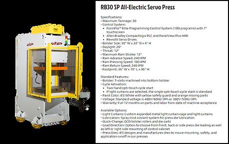 RB30 SP All Electric Servo Press Machine