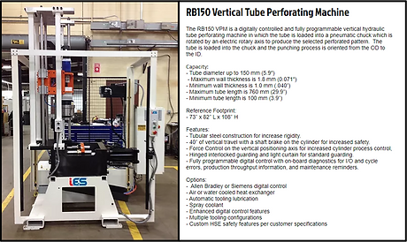 RB150 VPM Vertical Tube Perforating Mach