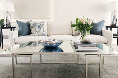 Interior design and decoration in Sydney | Blue and white Living room colour scheme
