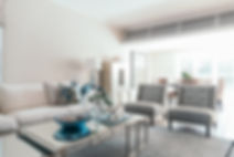 Colour scheme of blues whites and neutrals | Classic living room design Maroubra