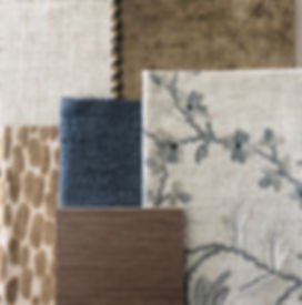 Material selection in Interior design   upholstery fabrics   colour scheme for living rooms   blue and brown colour scheme