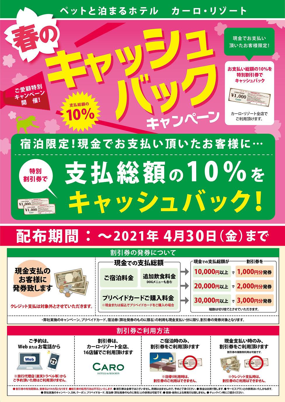春のキャッシュバックキャンペーン2021 B2ポスター.jpg