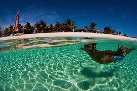 Snorkelling in warm water