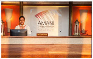 Amani Tiwi Beach Resort reception