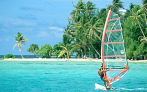 Windsurfing at Diani Beach