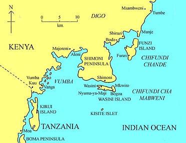 Map of wasini Island