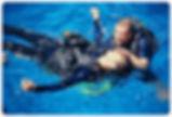 Recsue diver in training