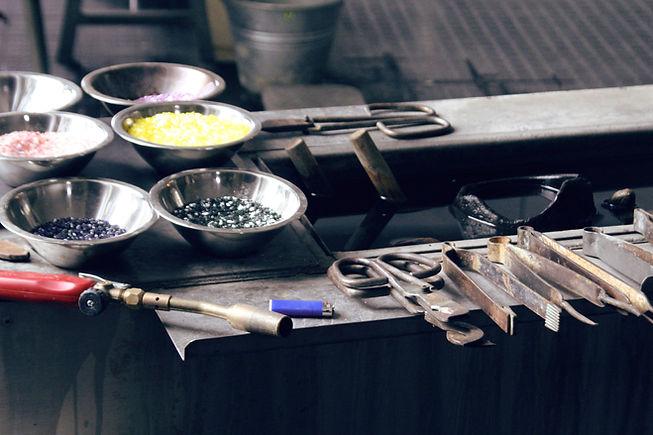 Glasbläserei Werkzeuge