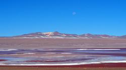 moon rise over Laguna Colorada