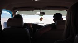 touring on the Salar de Uyuni