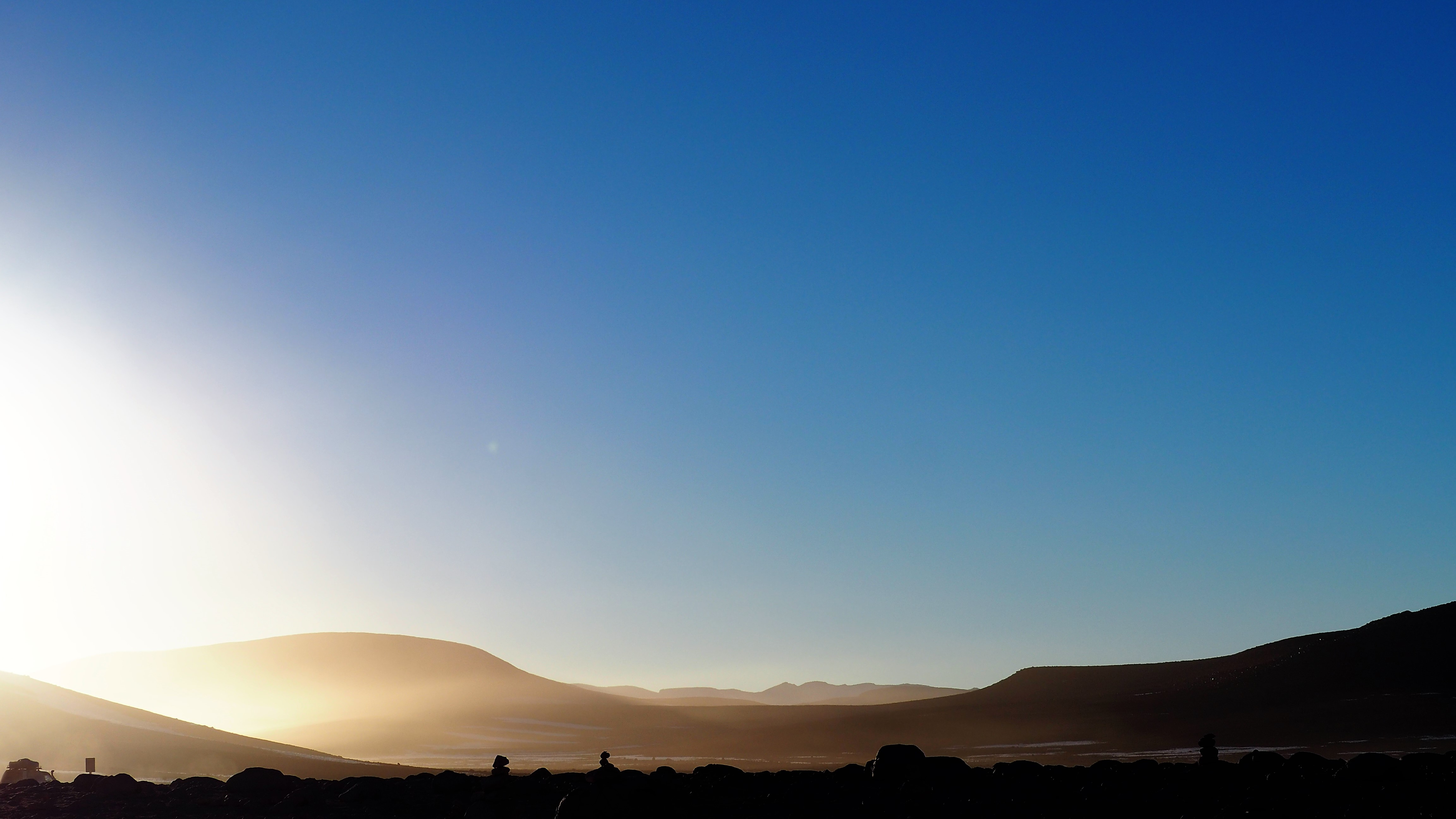 morning on the altiplano desert