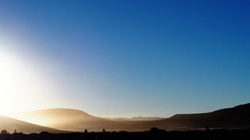 morning on the altiplano desert