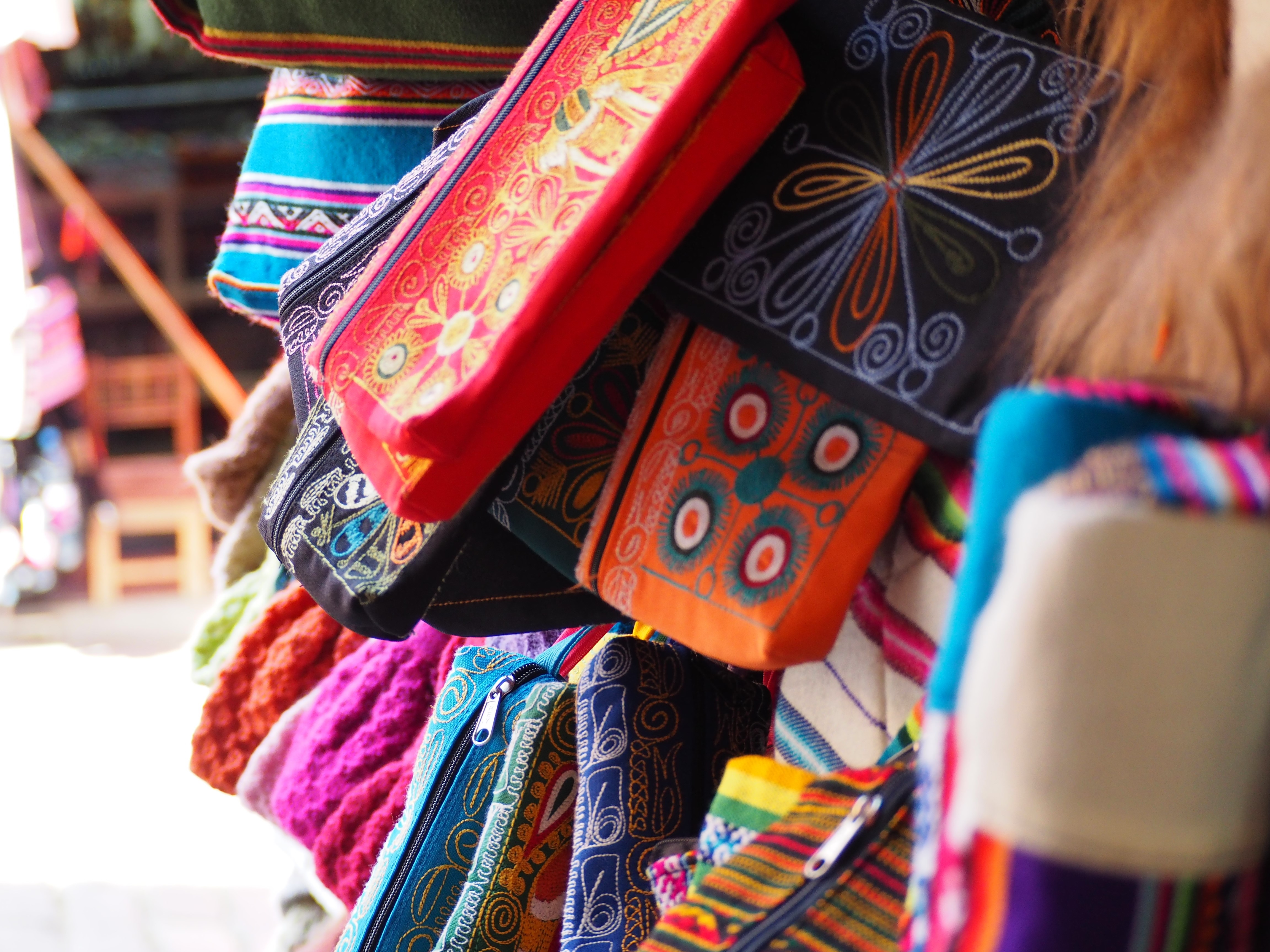 artisan bags in the tourist district