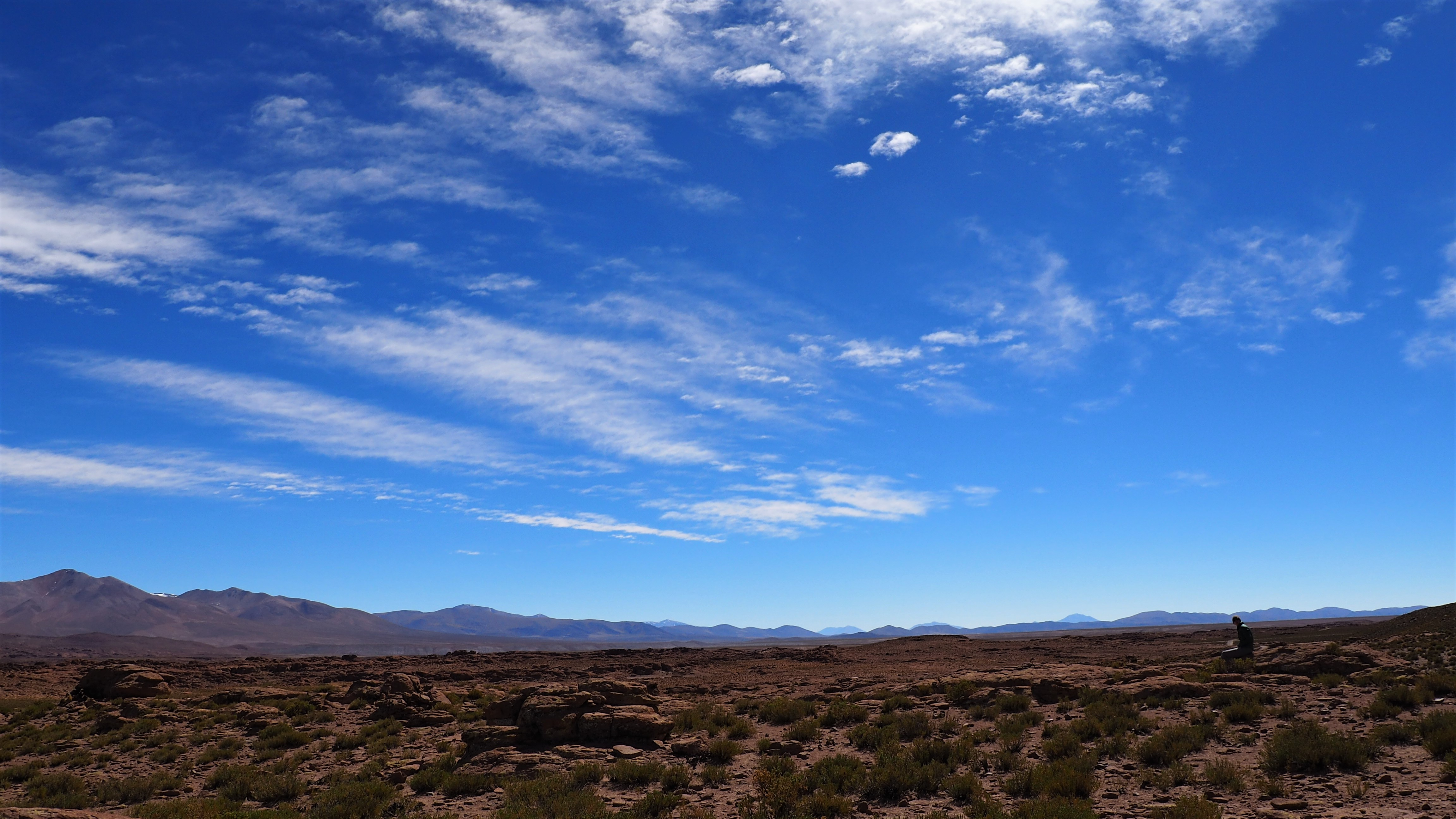 the sky over high Bolivia desert