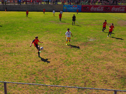 soccer match in the Zona Sur