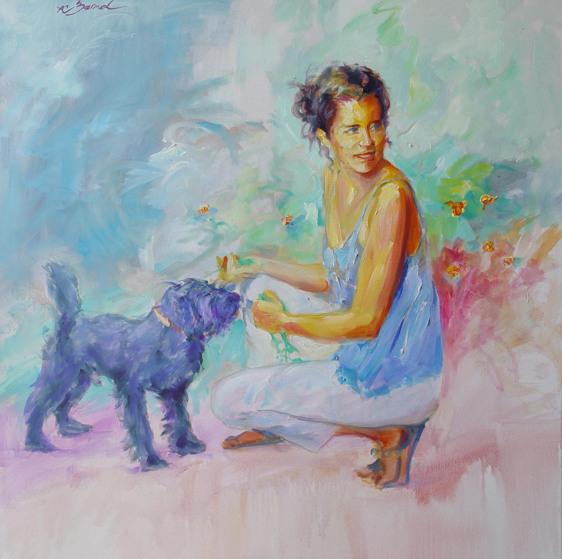La chica del perrito