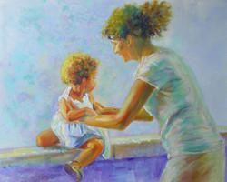 Motherhood in Valldemossa