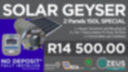 Geyserwise 2 Panel 150L Special - PTA -