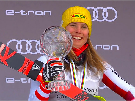 Katharina Liensberger Wins Last Slalom Race and Title. Petra Vlhova Wins the World Cup.