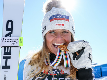 Corinne Suter Wins Downhill Gold in Cortina 2021
