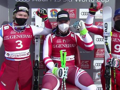 Vincent Kriechmayr Wins First Super-G Race of the Season In Kitzbühel