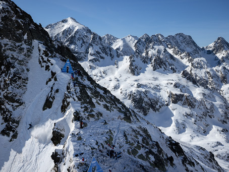 Freeride World Tour Second Stop. Ordino Arcalis, Andorra