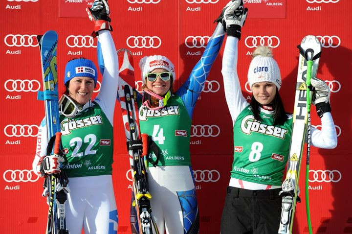 The last Downhill Podium in St. Anton. January 12, 2013.