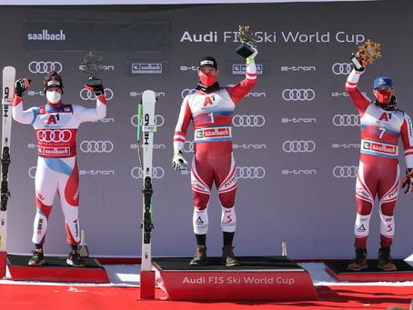 Vincent Kriechmayr Wins Saalbach Downhill
