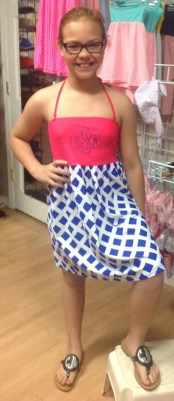 monogrammed bathing suit cover dress