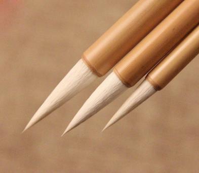 Pinceau de calligraphie (poils de chèvre)  26.7 cm X 0.8 cm