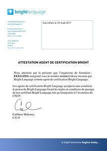 Attestation_Centre examen_Brightlanguage