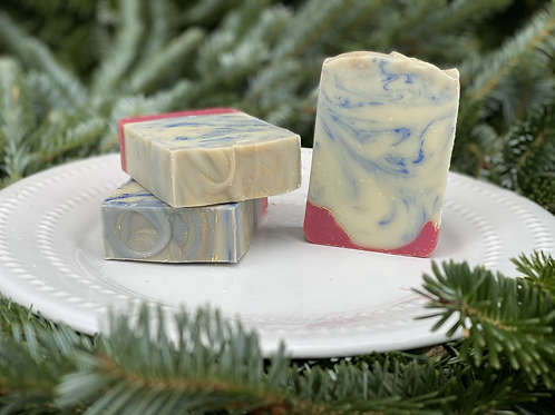 Wintery Candy Apple Soap