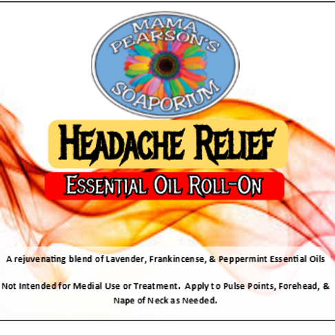 Headache Relief Essential Oil Blend Roll-On
