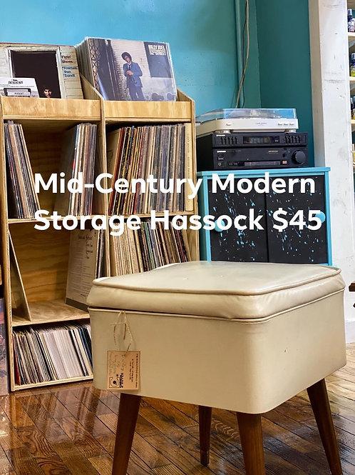 Vitntage 1960's Mid-Century Modern Storage Hassock