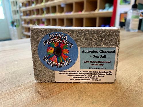 Activated Charcoal & Sea Salt Soap Bar