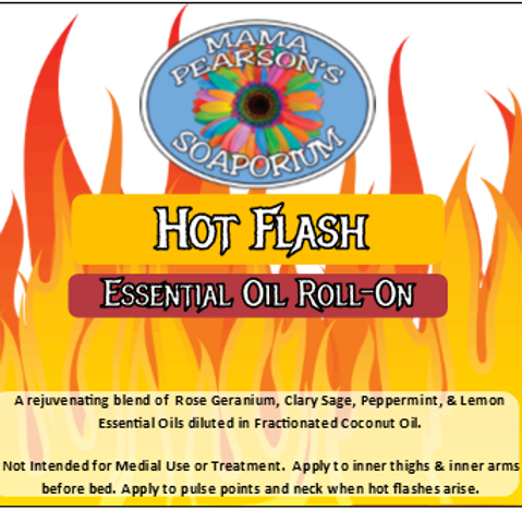 Hot Flash Essential Oil Blend Roll On