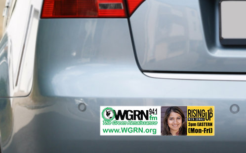 WGRN Rising Up w/Sonali Bumper Sticker