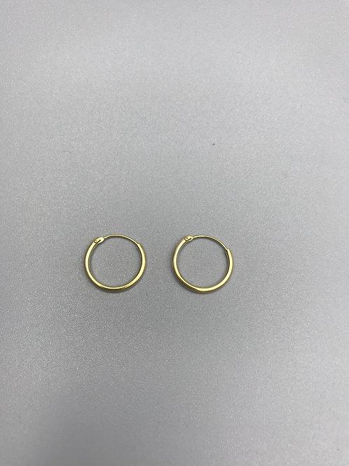 Delicate Hoop Earrings Gold Small