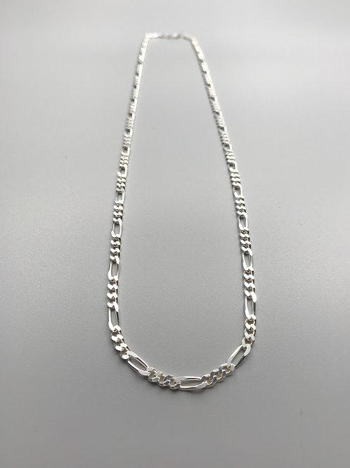 Medium Figaro Necklace Silver