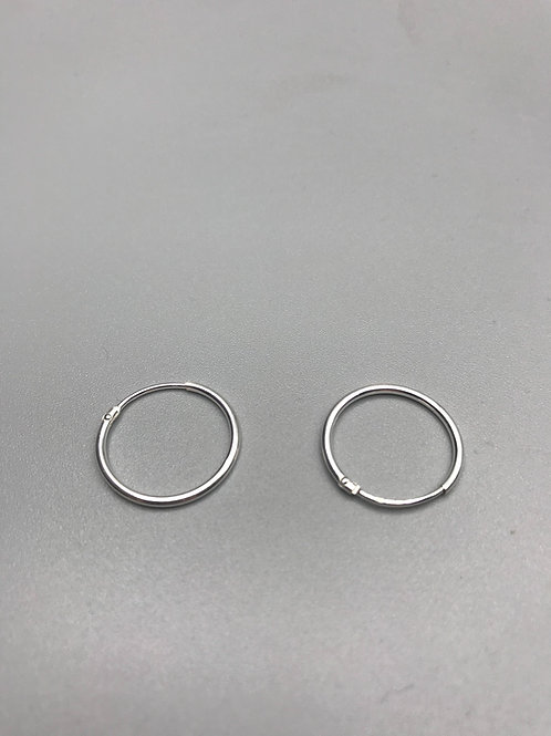 Delicate Hoop Earrings Silver Medium Small